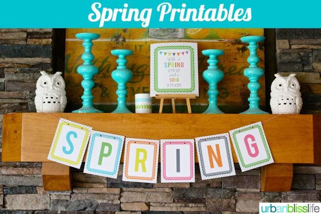 Spring Printables on UrbanBlissLife.com