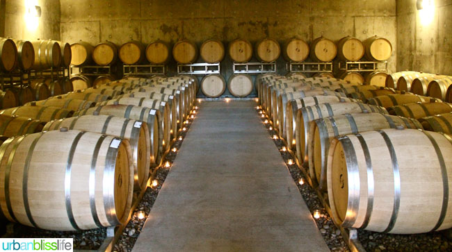 Hawks View Cellars barrel room