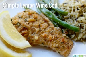 Cooking Simple Lemon Cod with Snoqualmie Wines