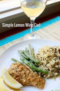 Simple Cod with White Wine Recipe + Snoqualmie Chardonnay