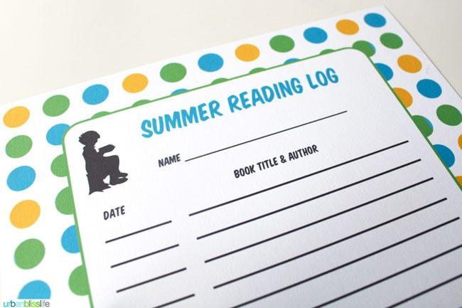 Printable Summer Reading Log | Guest post on TodaysCreativeBlog.net |Urban Bliss Life Summer Reading Log 2014
