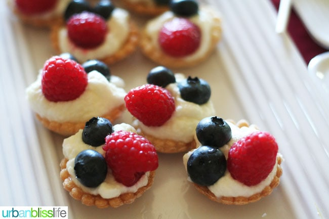 Fourth of July Tartlets recipe | UrbanBlissLife.com
