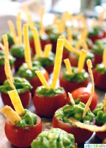 Guacamole Filled Cherry Tomatoes