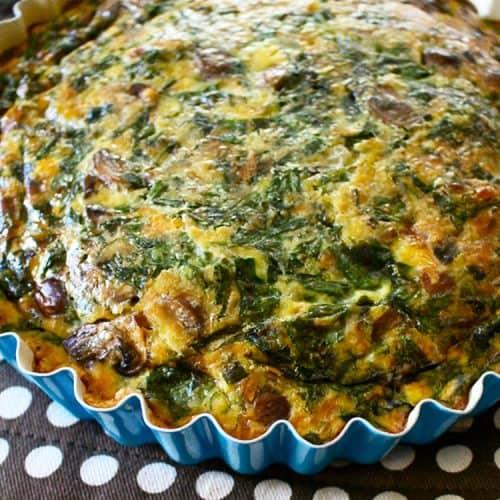 Bacon Mushroom Spinach Quiche