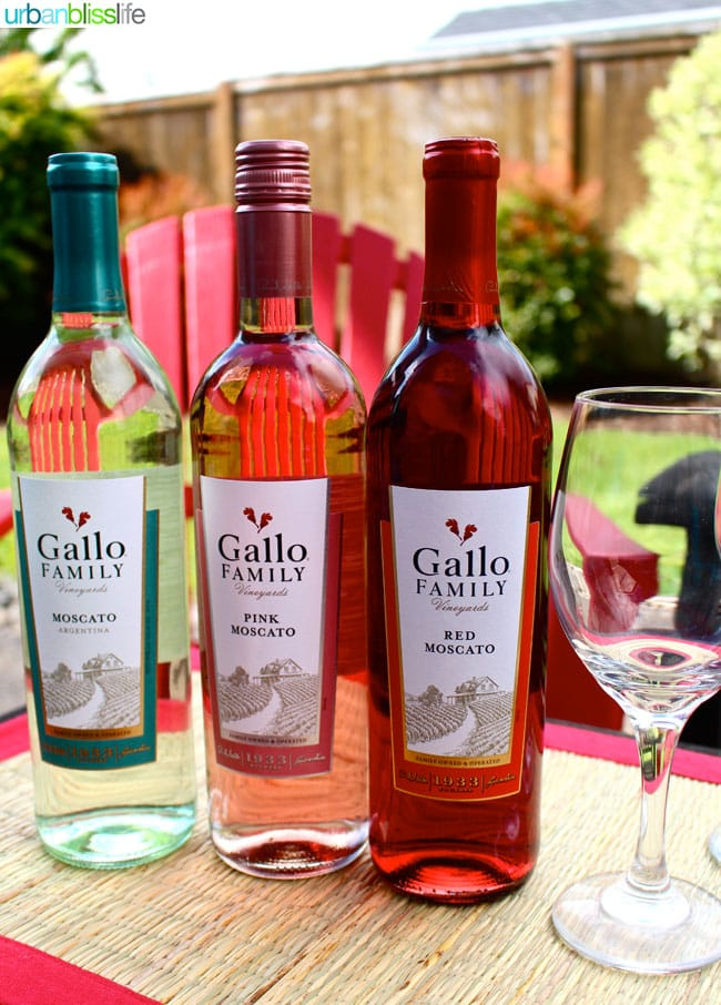Gallo Wines Moscato Strawberries | UrbanBlissLife.com
