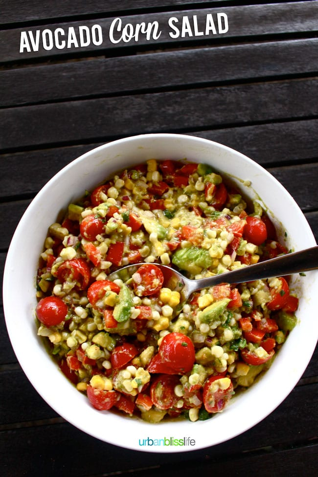Avocado Corn Salad on UrbanBlissLife.com