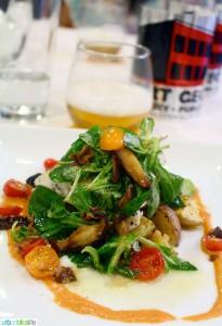 WFM Beer Pairings Dinner Portland, Oregon salad