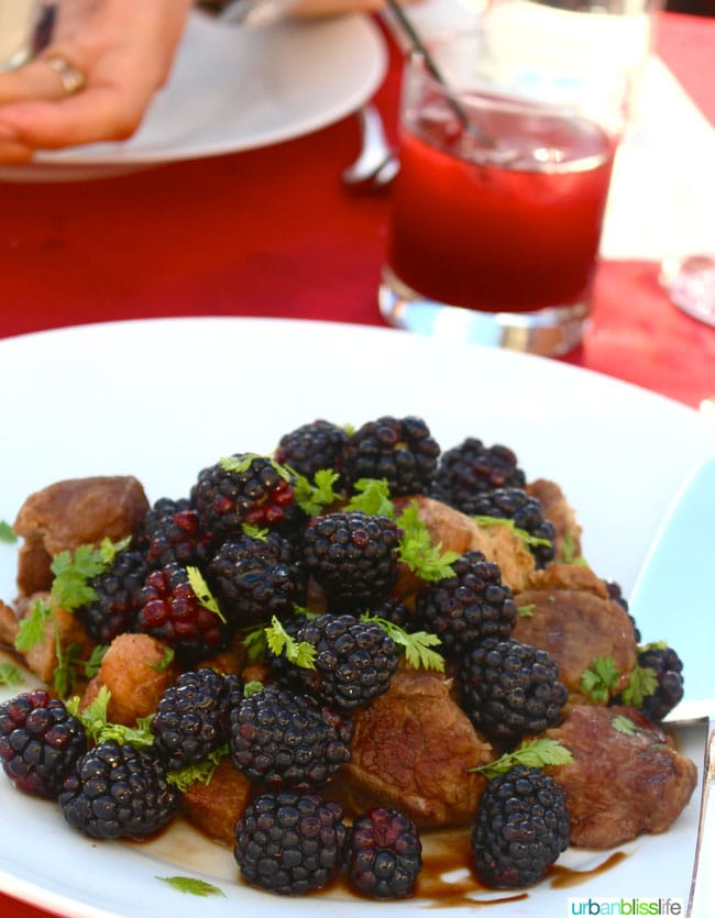 Oregon Berry Fest gala blackberry pork