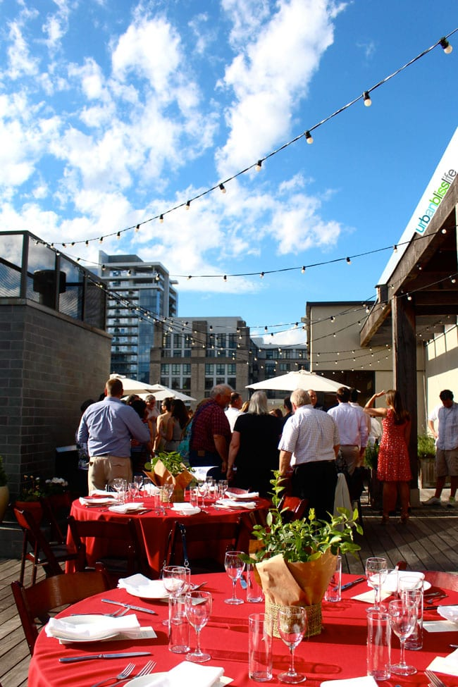 Oregon Berry Fest Gala Rooftop