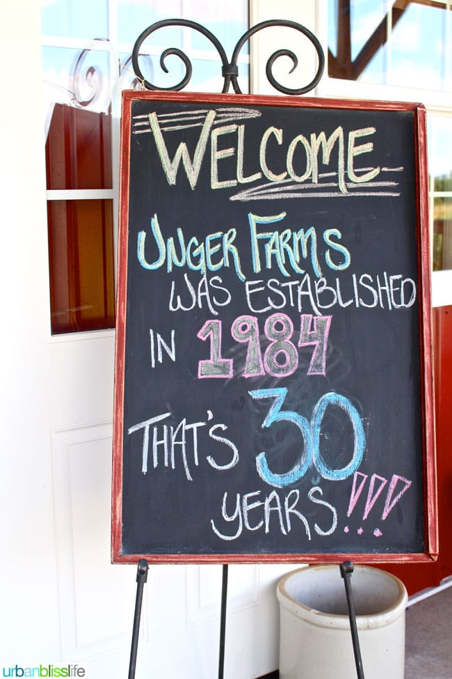 Oregon Berry Fest Unger Farms Sign