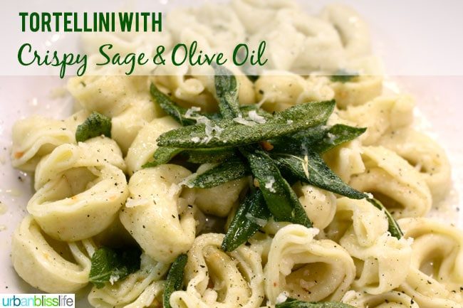 Tortellini with Crispy Sage & Olive Oil - Urban Bliss Life