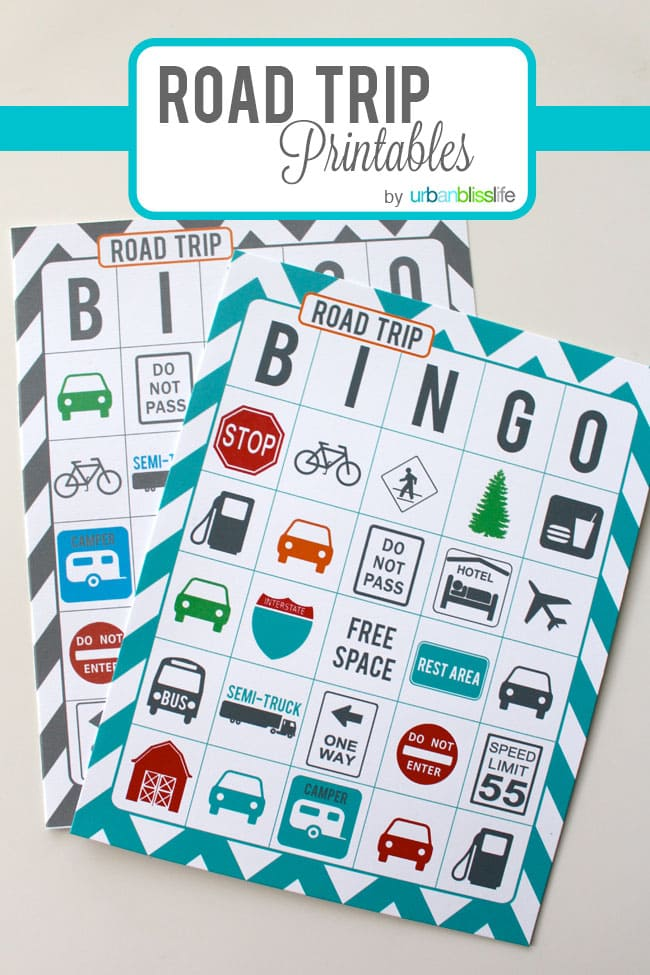 It's just a graphic of Wild Road Trip Bingo Printables