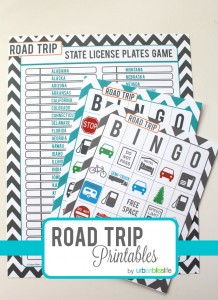 Road Trip Bingo Free Printable