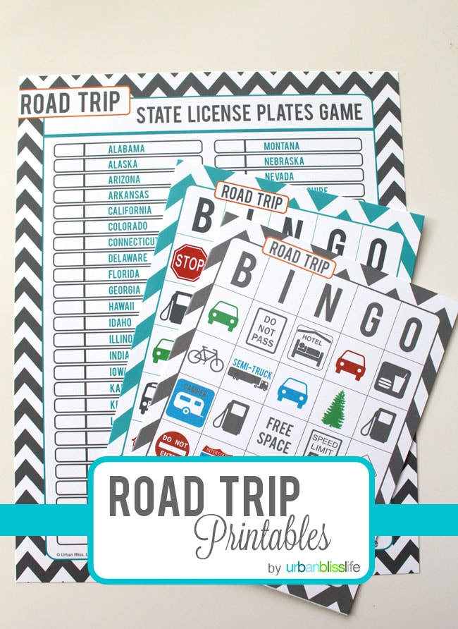 graphic relating to Travel Bingo Printable named Push Tuesday: Absolutely free Street Holiday vacation Printables - City Bliss Lifetime