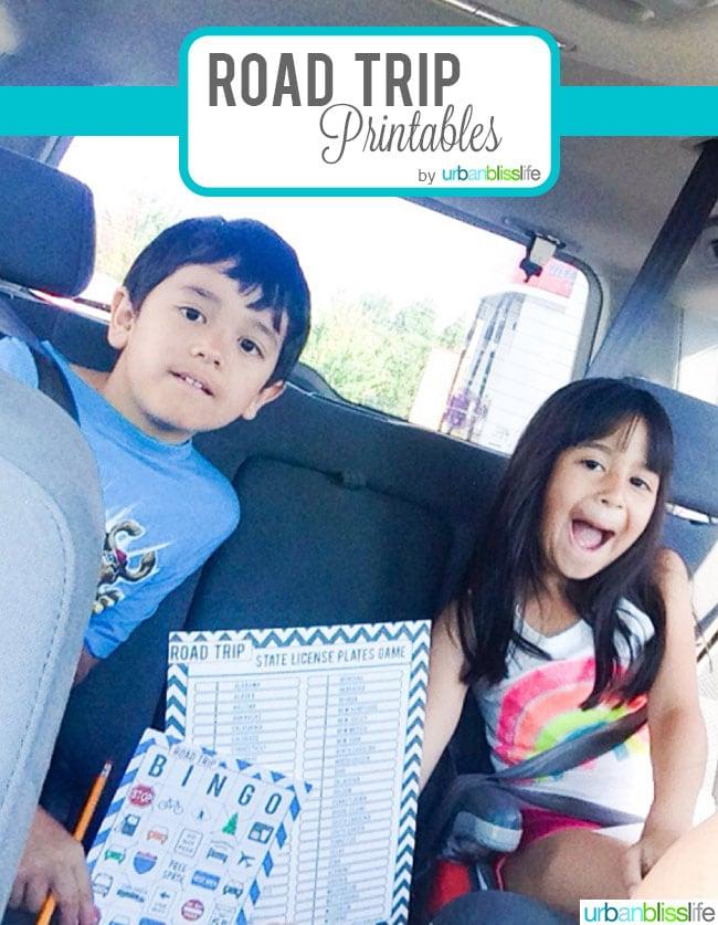 Road Trip Bingo Free Printable DO NOT USE THIS PHOTO ©UrbanBliss,LLC