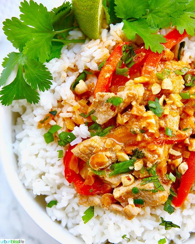 Thai Peanut Curry With Jasmine Rice