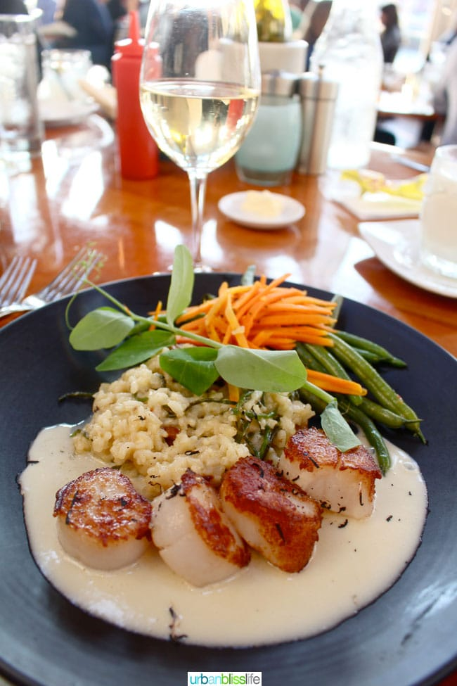 Bridgewater Bistro scallops - travel bliss: Astoria, Oregon on UrbanBlissLife.com