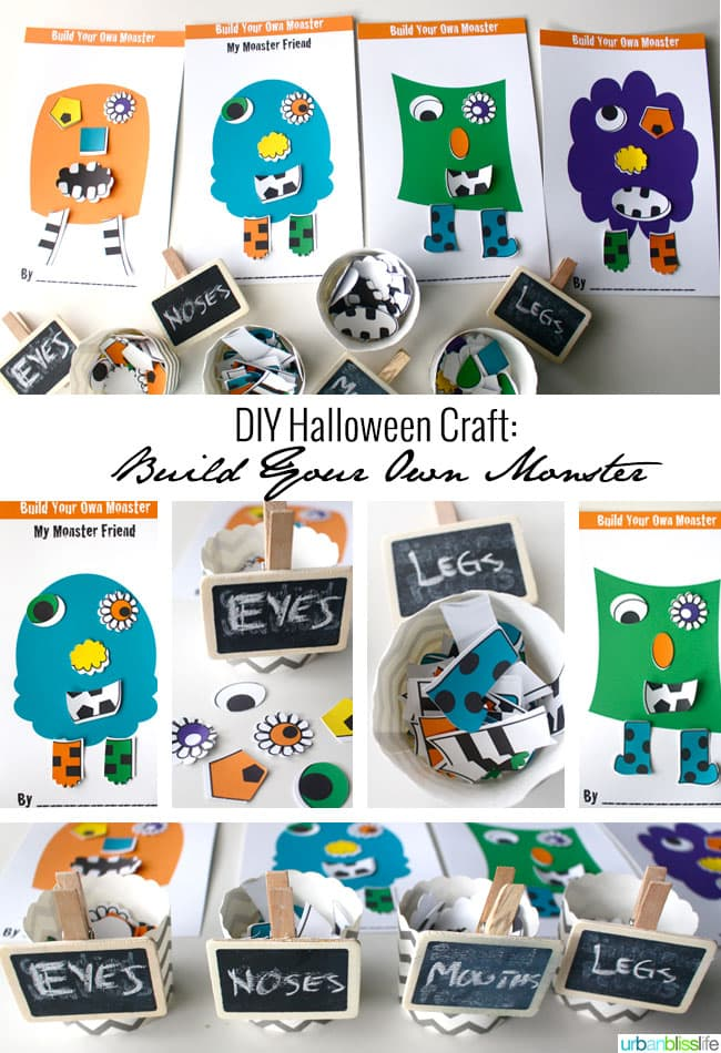 Build Your Own Monster DIY Halloween Craft