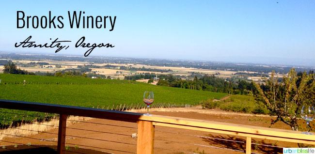 Brooks Winery view