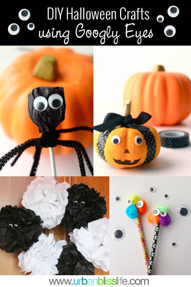 Easy DIY Halloween Crafts Using Googly Eyes