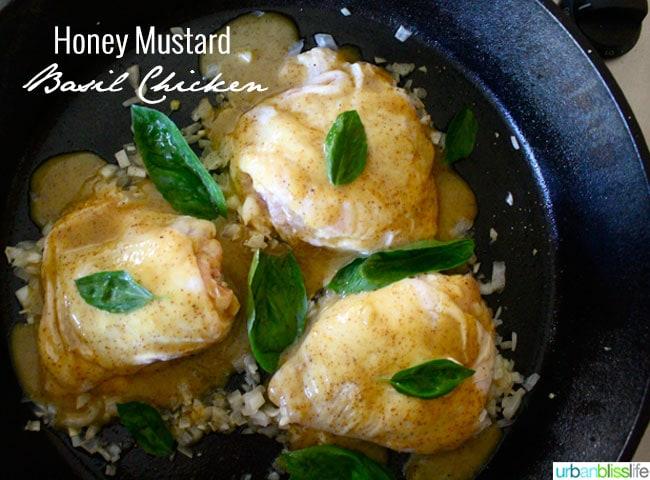 Honey Mustard Basil Chicken recipe