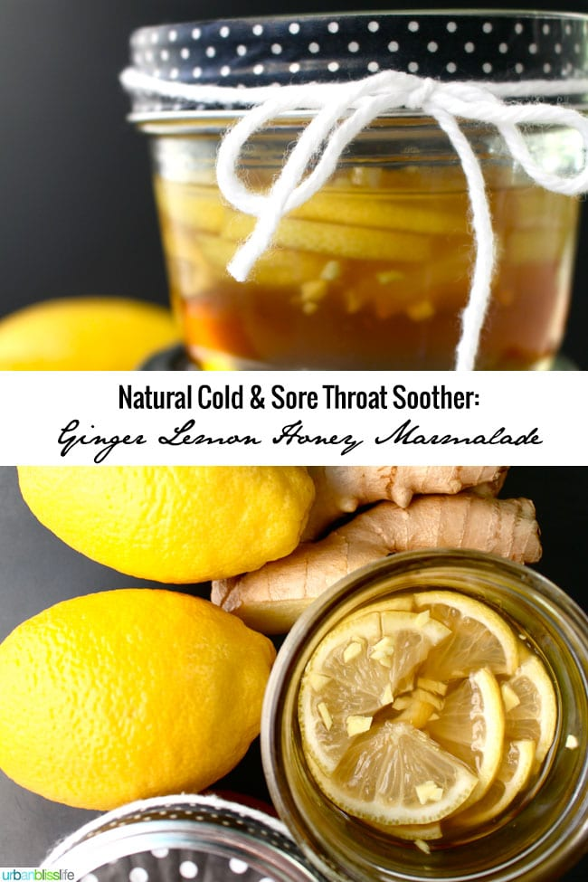 Natural Cold & Sore Throat Soother: Ginger Lemon Honey Marmalade