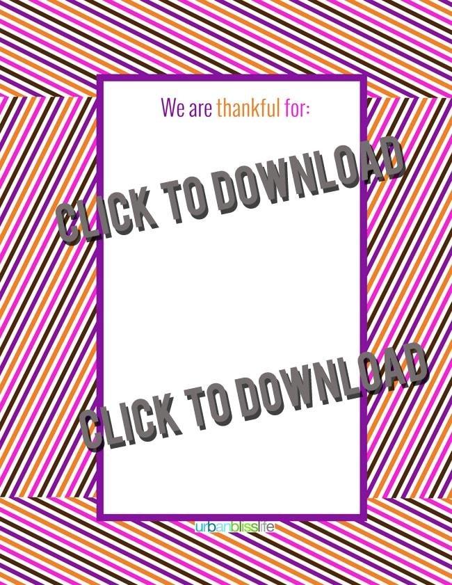 Free Thanksgiving Printable Thankful Poster | UrbanBlissLife.com