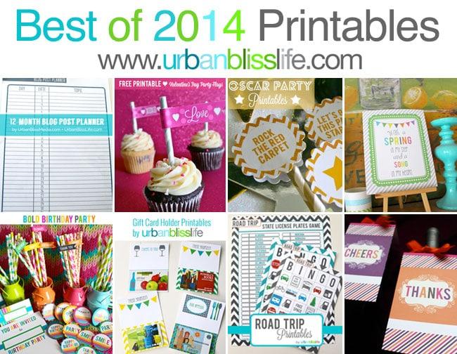 Best of 2014 Free Printables