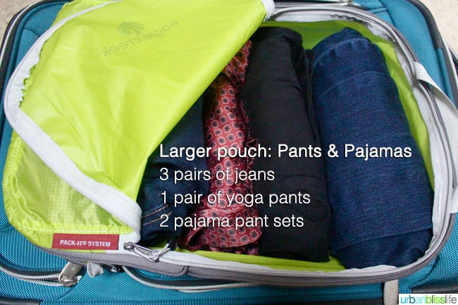 extended stay travel essential: clothes packing pouch