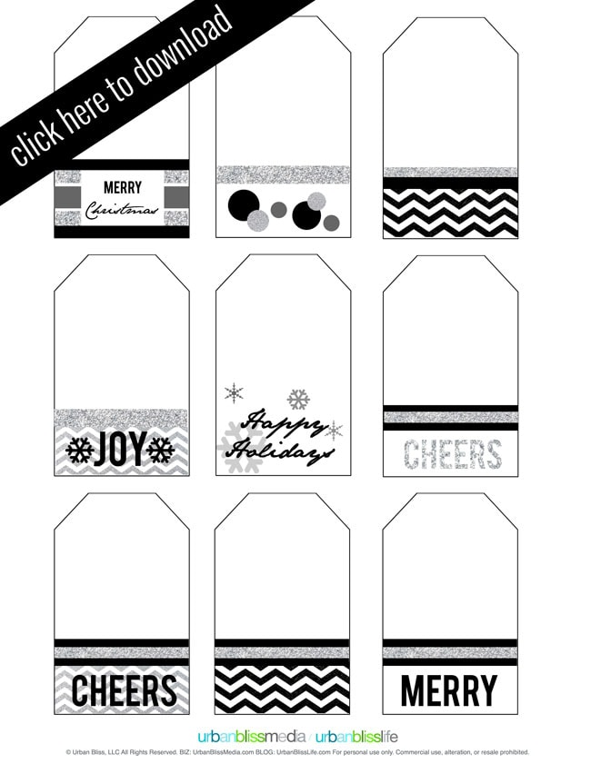 Holiday Gift Tag Printables - Today's Creative Blog