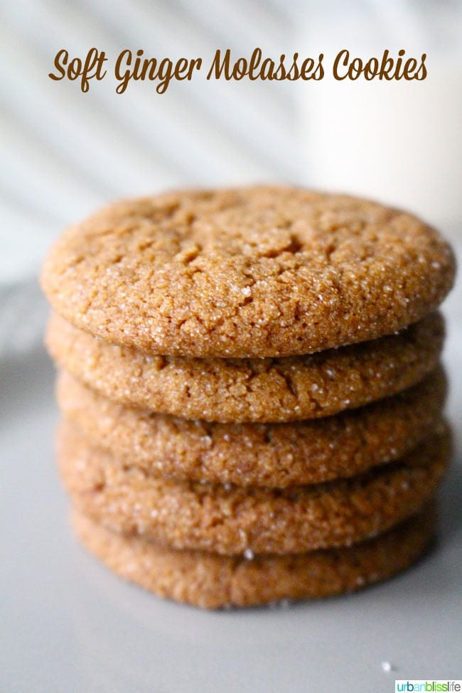 Ginger Molasses Cookies stacked