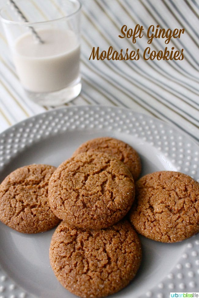 Ginger Molasses Cookies with Milk