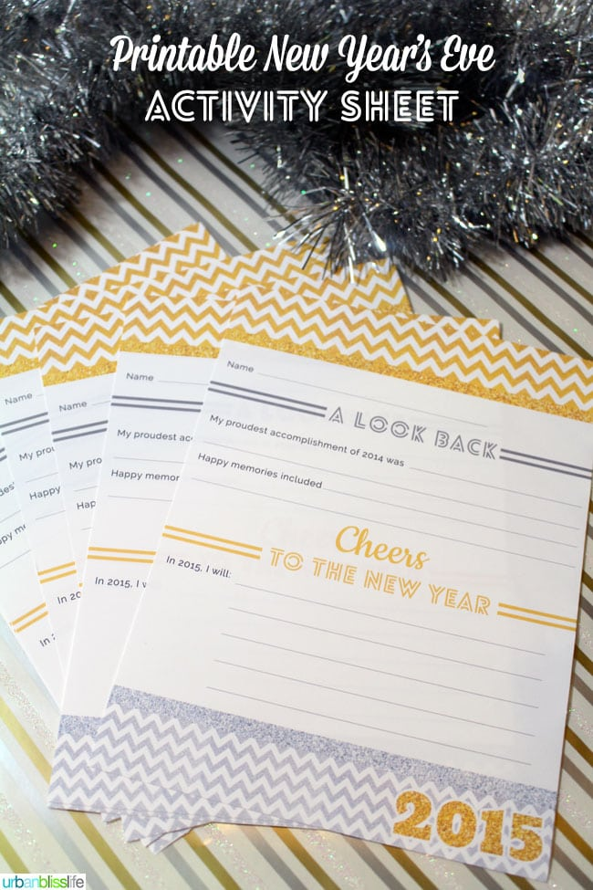 Free printable new year's eve activity sheet by UrbanBlissLife.com
