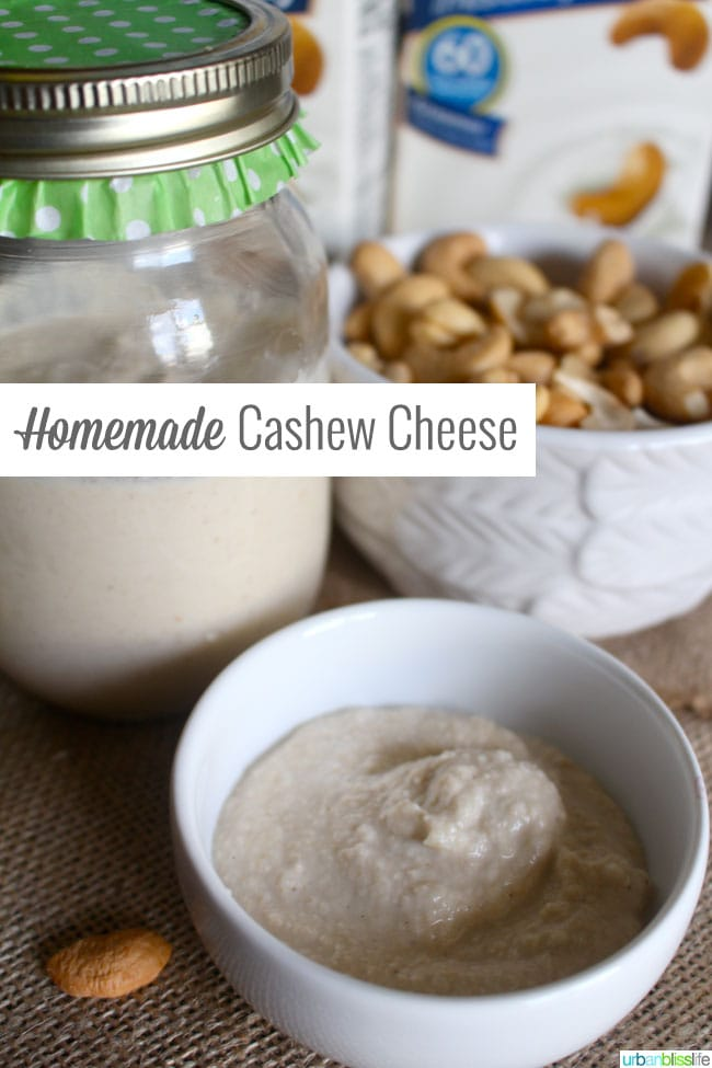homemade cashew nut cheese