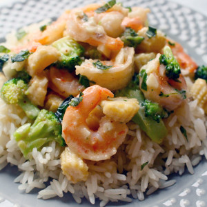 Coconut Shrimp with Rice recipe