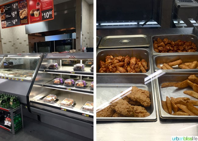 Tyson chicken wings at supermarket deli display