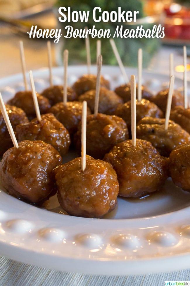 Honey Bourbon Meatballs recipe   UrbanBlissLife.com