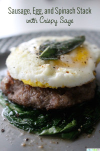 Grain-Free Gluten-Free Breakfast Sandwich with Sausage and Egg recipe on UrbanBlissLife.com