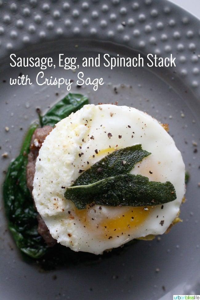 Gluten-Free Grain-Free Dairy-Free Sausage Egg Spinach Breakfast Sandwich