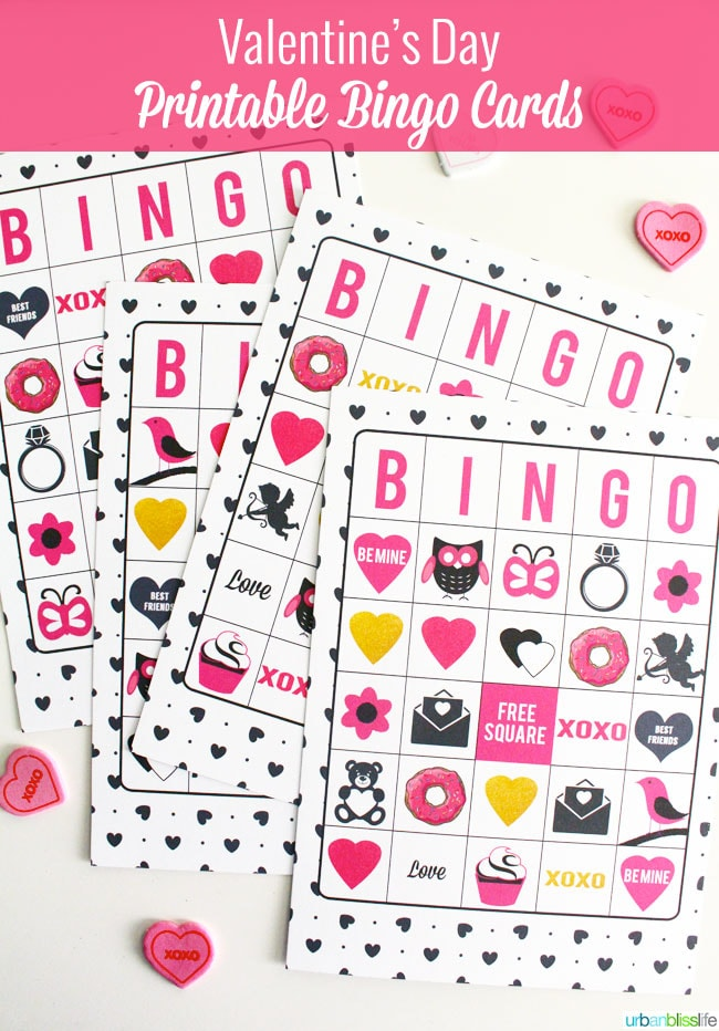 Make It Monday LIMITEDTIME FREE Valentines Day Cards Printables – Valentine Bingo Card