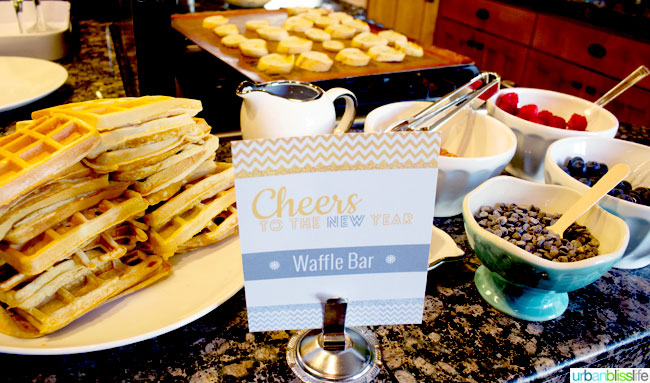 New Year's Day Party: Waffle Bar Party Bliss - Urban Bliss ...