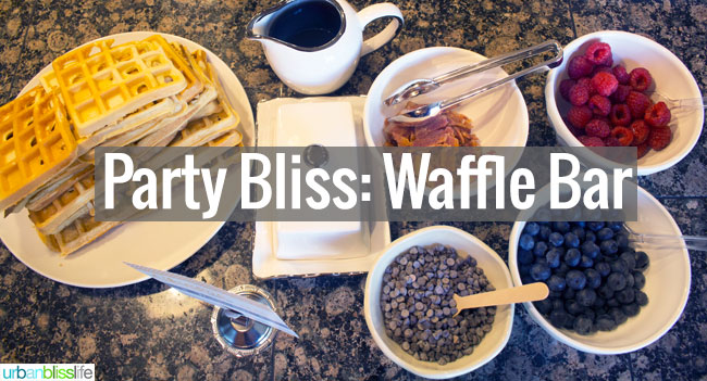 New Year's Day Party: Waffle Bar Party Bliss