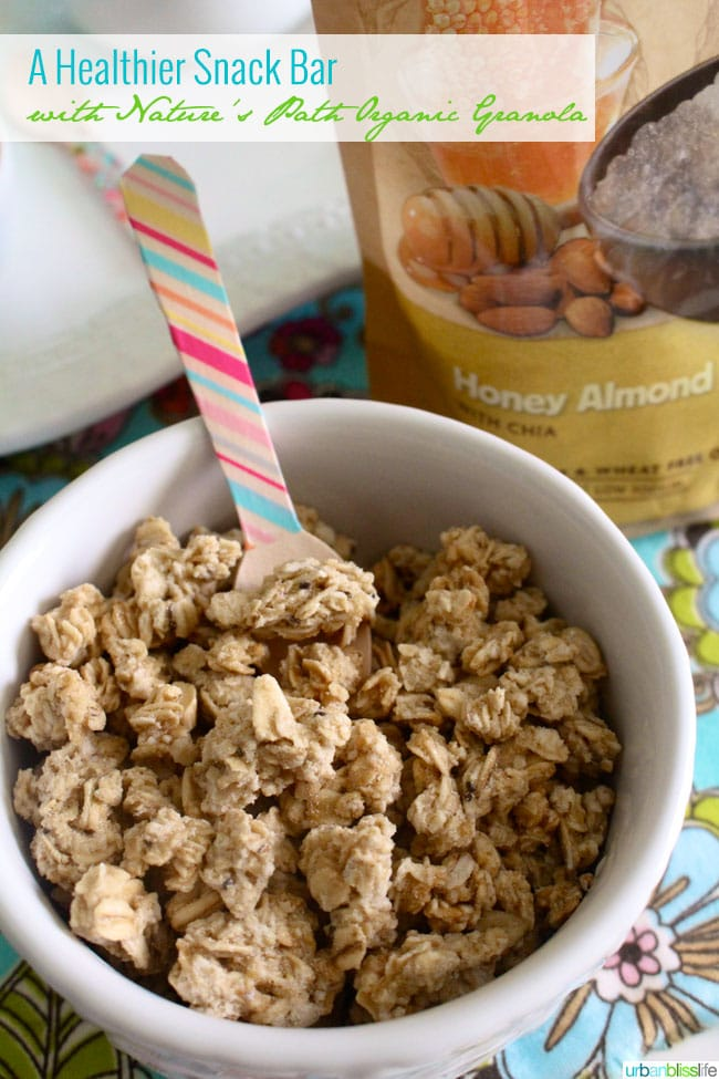 A Healthier Snack Bar with Nature's Path Organic Granola on UrbanBlissLife.com
