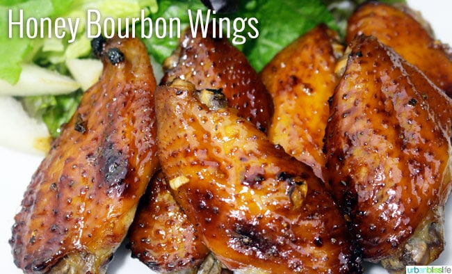 Honey Bourbon Wings recipe on UrbanBlissLife.com