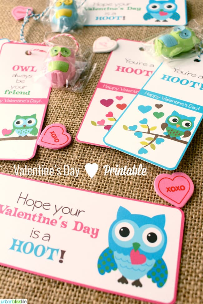 Valentines Day Owl Bookmark Printables by Urban Bliss Life