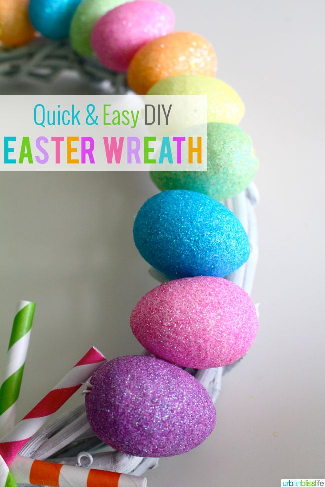 Quick & Easy DIY Easter Wreath on UrbanBlissLife.com