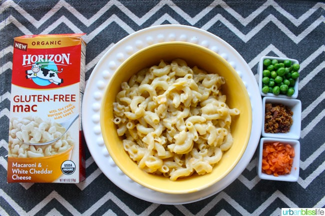 Mealtime Solutions with Horizon Organic Gluten Free Mac and Cheese