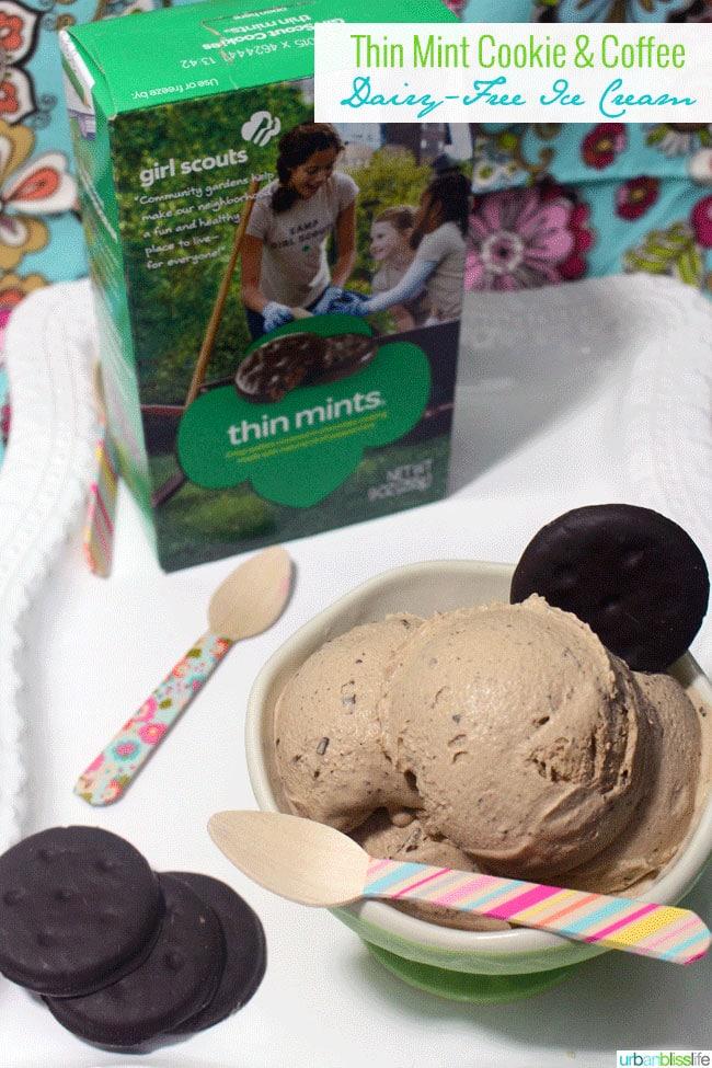 Thin Mint Cookie Coffee Dairy Free Ice Cream ©UrbanBliss