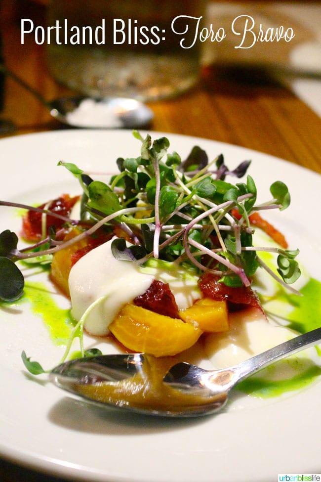 Toro Bravo Portland restaurant - Beet Salad