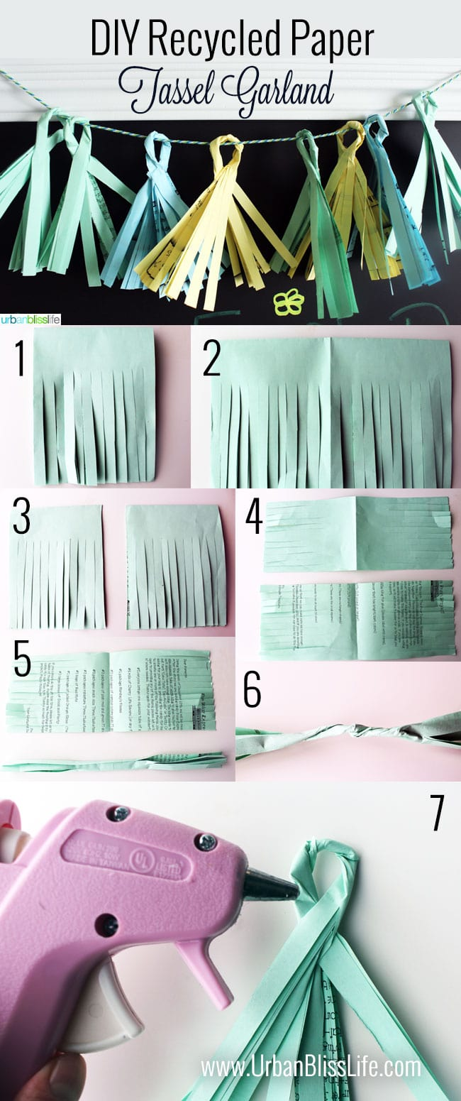 DIY Recycled Paper Tassel Garland